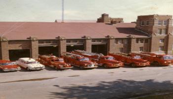 Red Deer Archives, P3324; Fire Hall, 1962
