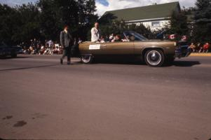 Red Deer Archives, S2745; Governor General Roland Michener in the Westerner Parade, 1972