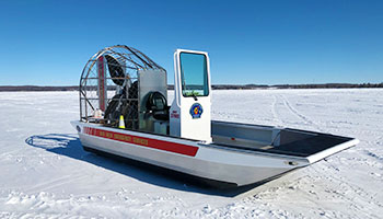 Photo of Red Deer Emergency Services' Airboat