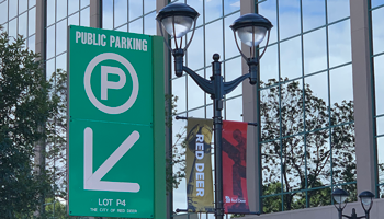 Sign for public parking