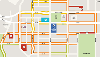 Downtown Parking Map - Landing Tile