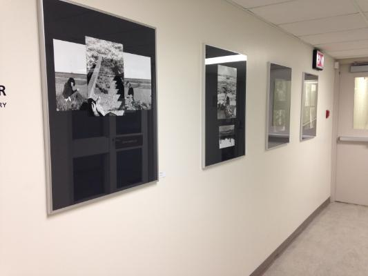 Photo of photographs on display in the Corridor Gallery