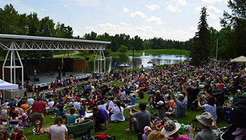 Event at Bower Ponds stage