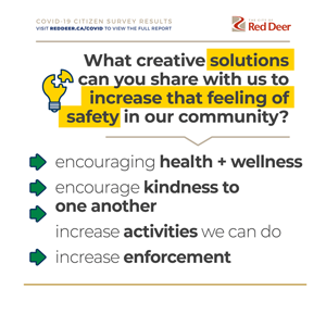 What creative solutions can you share with us to increase that feeling of safety in our community?